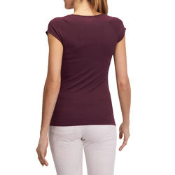 Dames T-shirt voor gym en pilates, slim fit - 880299