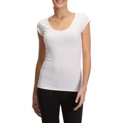 Dames T-shirt voor gym en pilates, slim fit - 880307