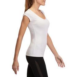 Dames T-shirt voor gym en pilates, slim fit - 880309