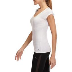 Dames T-shirt voor gym en pilates, slim fit - 880310