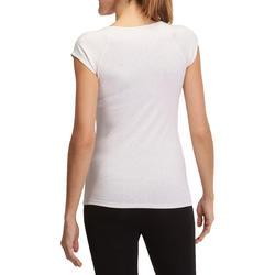 Dames T-shirt voor gym en pilates, slim fit - 880311