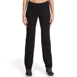 Fit+ 500 Women's Regular Gym & Pilates Leggings - Black