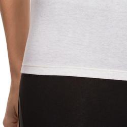 Dames T-shirt voor gym en pilates, slim fit - 880319