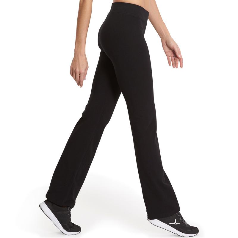 Calzas FIT+ 500 regular gimnasia y pilates mujer negras