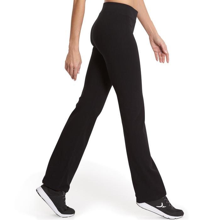 Leggings FIT+ 500 regular gimnasia y pilates mujer negro