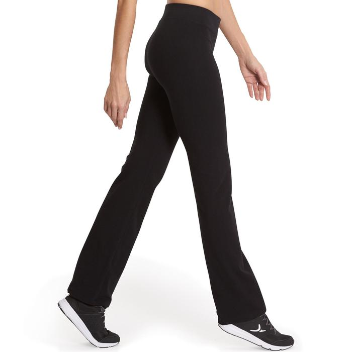 Leggings Fit+ 500 Regular Pilates sanfte Gym Damen schwarz