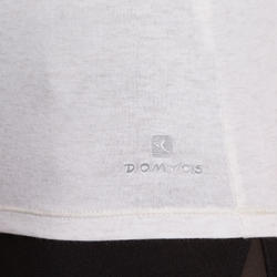 Dames T-shirt voor gym en pilates, slim fit - 880324