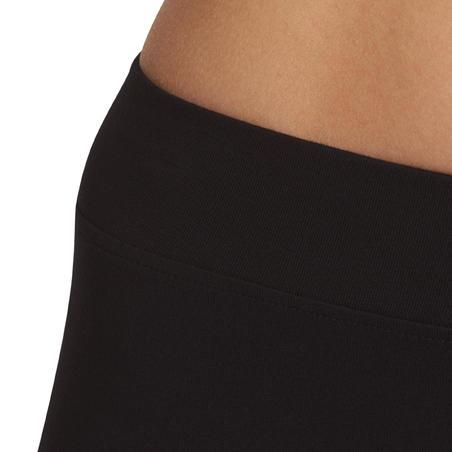 500 Fit+ Celana Ketat Wanita Regular-Fit Pilates & Gym Ringan  - Hitam