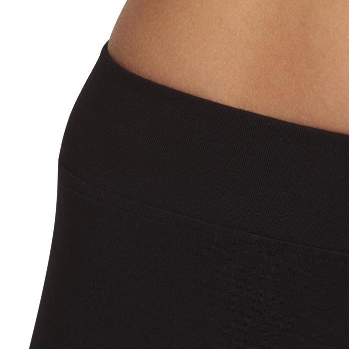 Dameslegging FIT+ 500 voor gym en stretching regular fit zwart