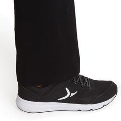 Women's Regular-Fit Pilates & Gentle Gym Sport Bottoms Fit+500 - Black