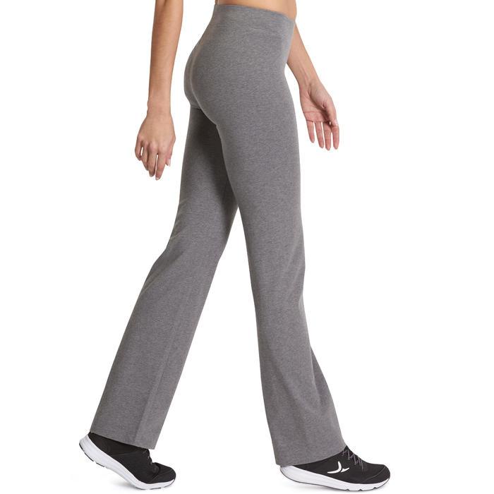 Dameslegging FIT+ 500 voor gym en stretching regular fit gemêleerd grijs