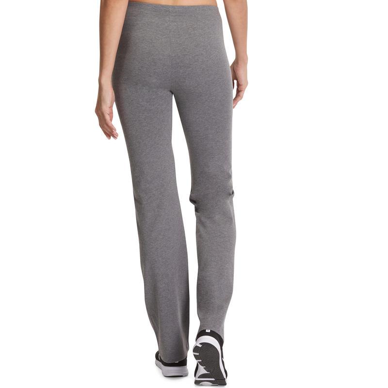 Fit+ Women's Regular Gym & Pilates Leggings - Mid Mottled Grey