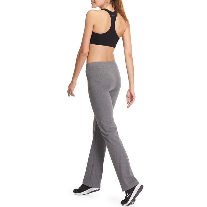 Mallas Gimnasia Pilates Domyos FIT+500 Regular Mujer Gris