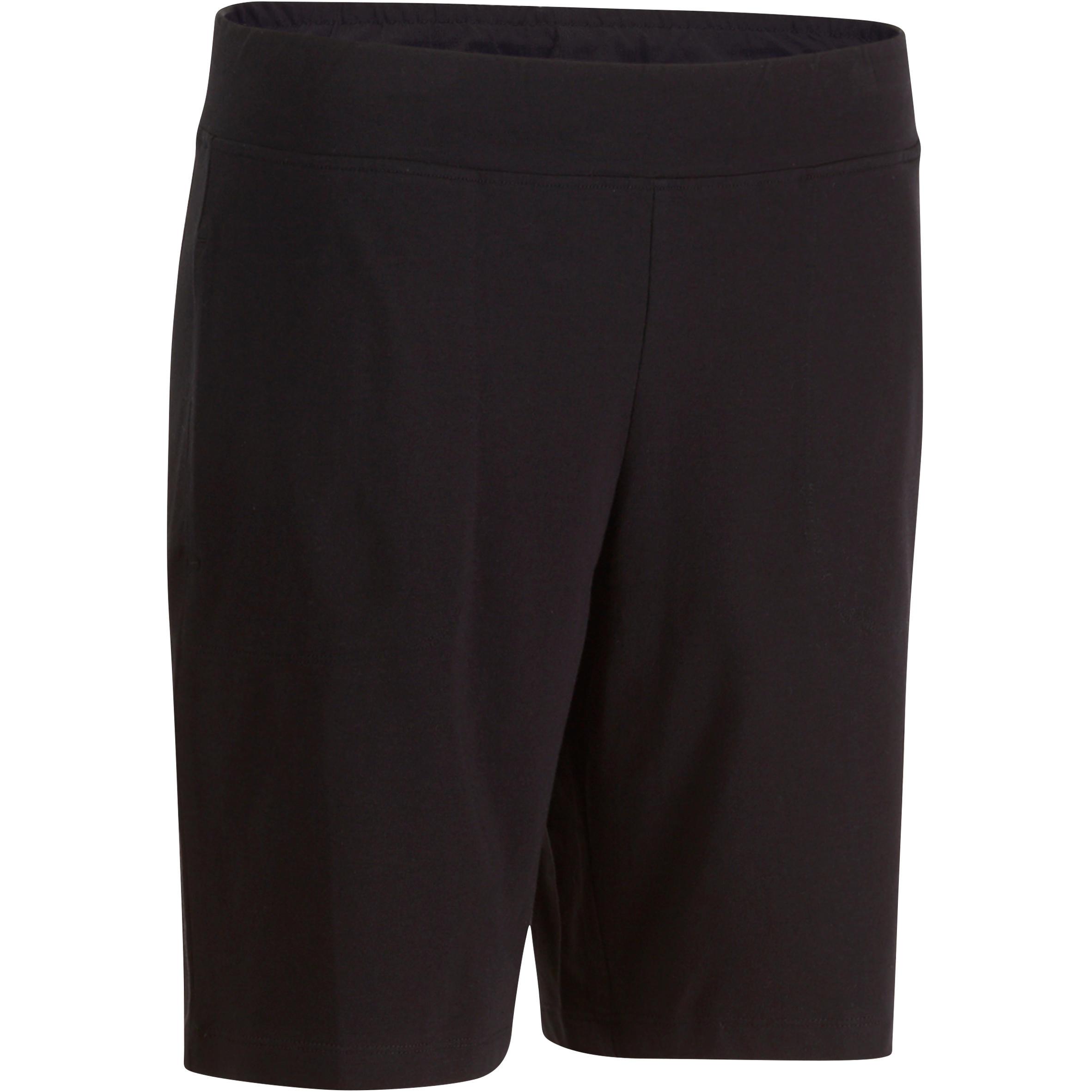 Short FORME+ 500 régulier Gym étirements femme noir