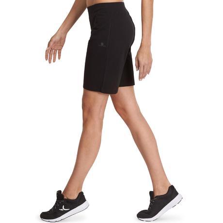 bbc77d87a3b5e3 Pantaloncini donna regular gym 500 FIT+ neri | Domyos by Decathlon