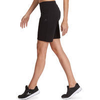 Short Fit+ 500 regular Pilates y Gimnasia suave mujer negro