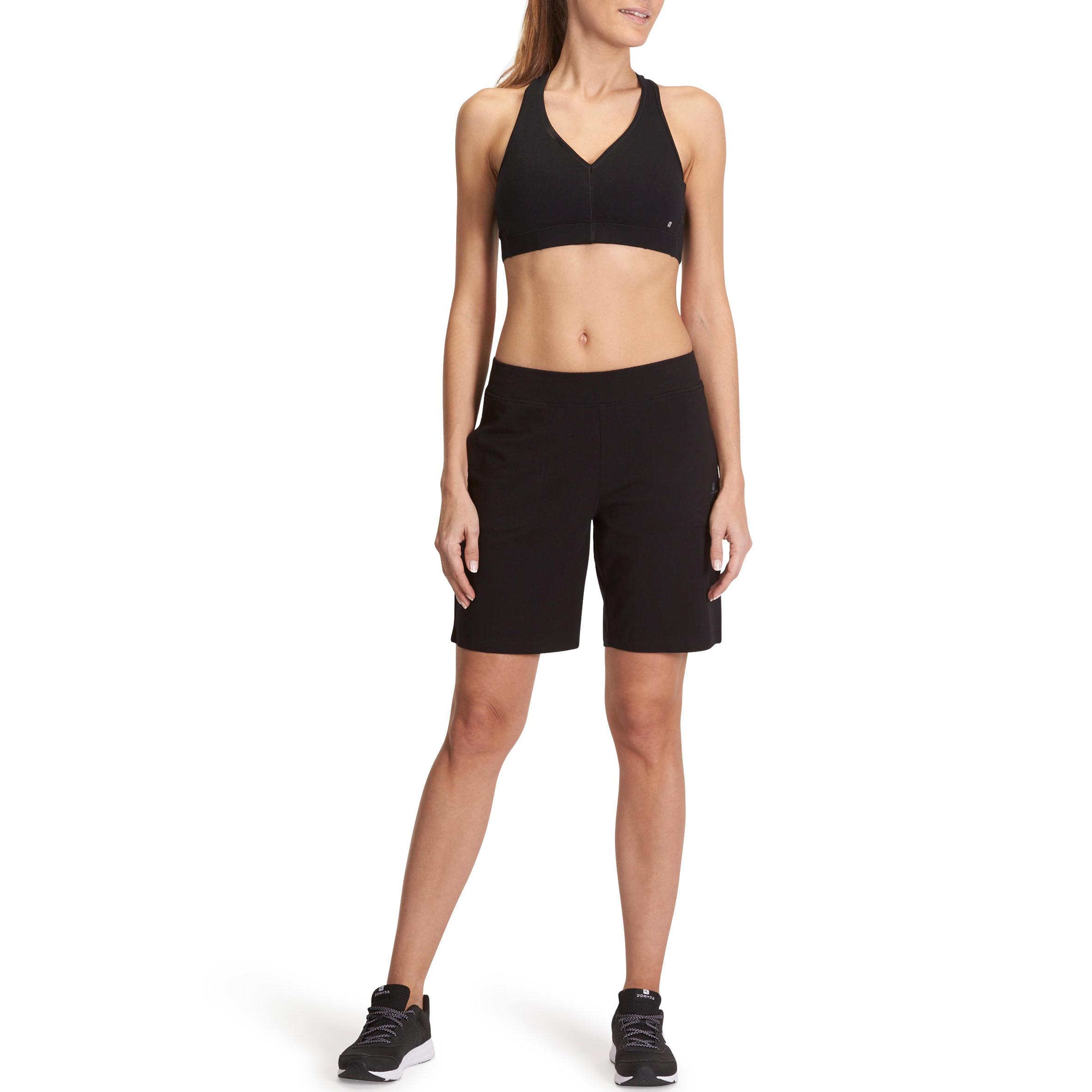 diseño superior tienda oficial última venta Short FIT+ 500 regular gimnasia y pilates mujer negro