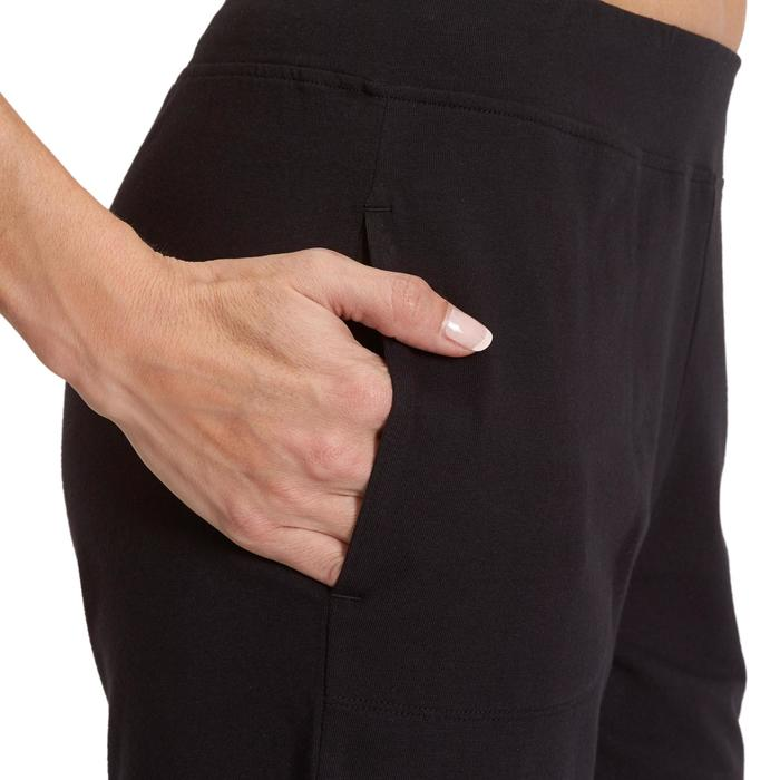 Short Fit+ 500 regular fit pilates en lichte gym dames zwart
