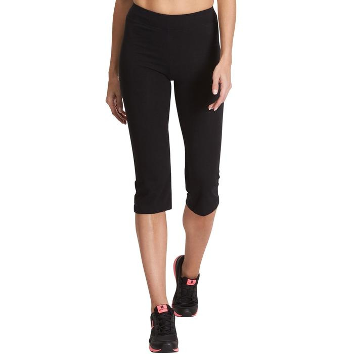 Kuitbroek Fit+ 500 regular fit pilates en lichte gym dames zwart