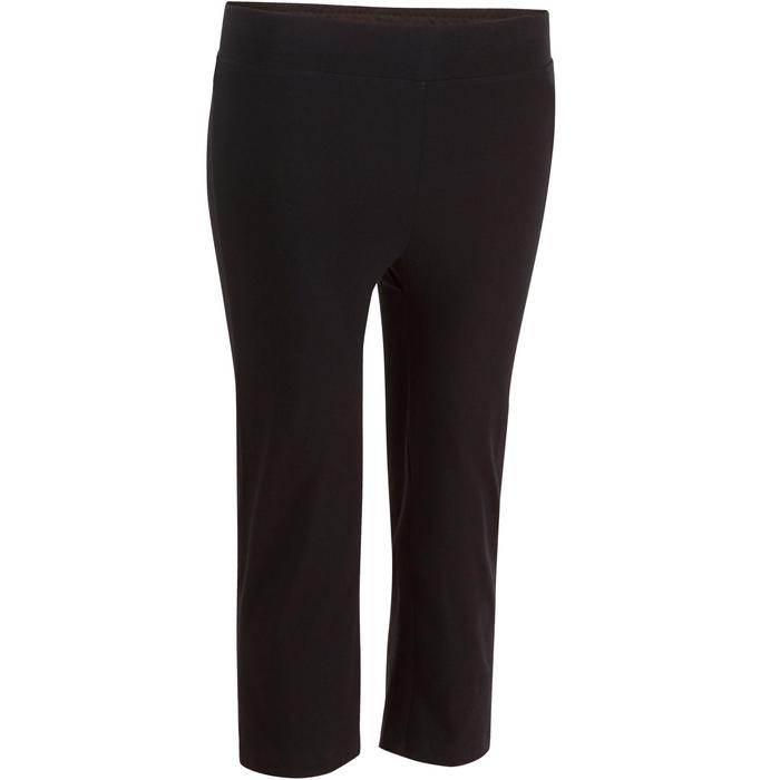 Dameskuitbroek Fit+ 500 voor gym en pilates regular fit zwart