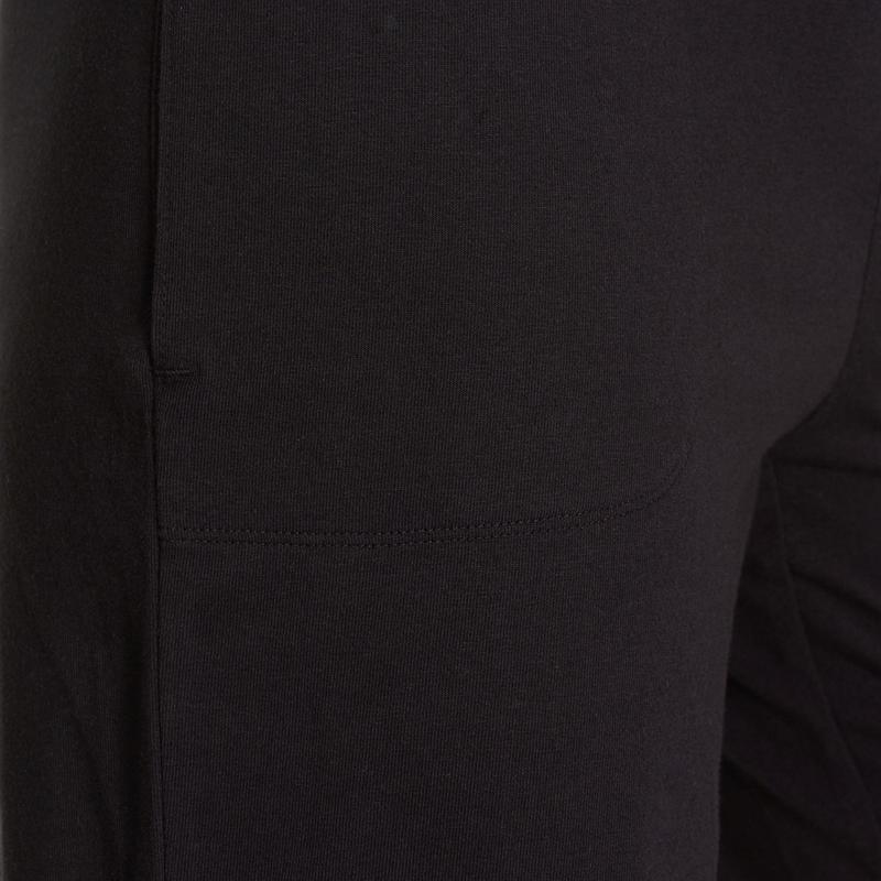Fit+ 500 Women's Regular Gym & Pilates Shorts - Black