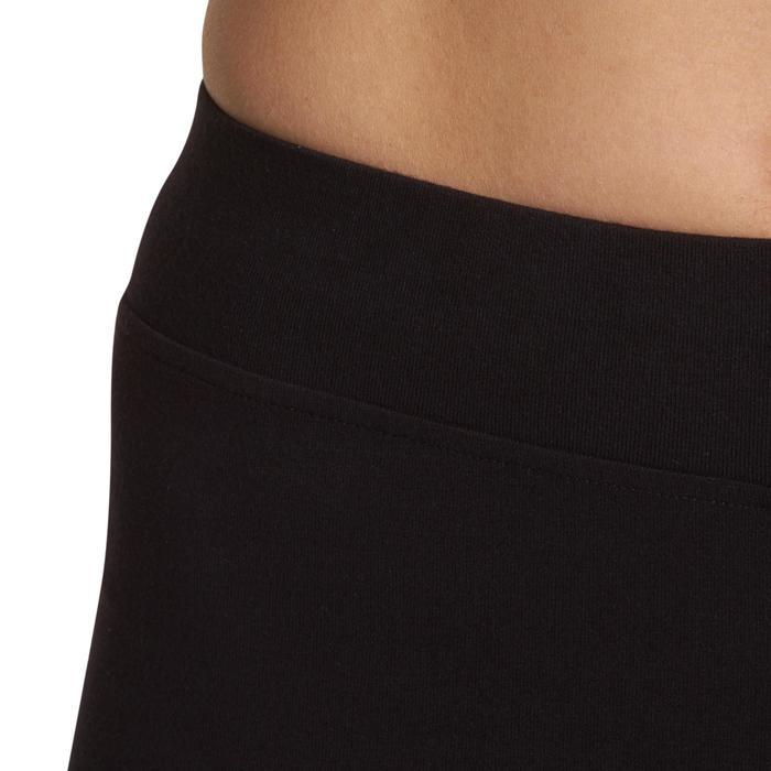 Dames kuitbroek FIT+ 500 voor gym en stretching regular fit zwart