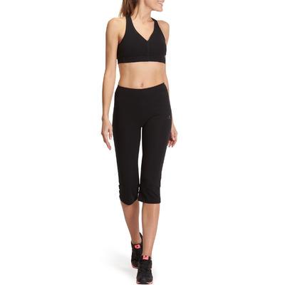 Corsaire FIT+ 500 regular Gym & Pilates femme noir
