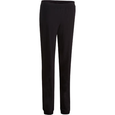 Pantalon 100 regular Gym Stretching femme noir