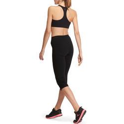 Mallas 3/4 FIT+ regular fitness mujer negro