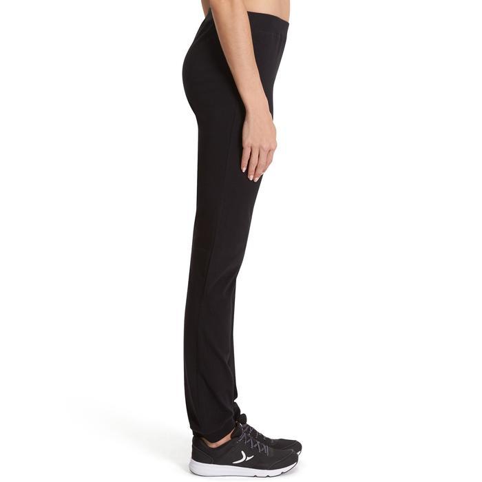 Pantalón 100 regular Gimnasia Stretching mujer negro