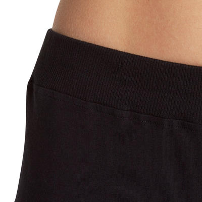 Pantalón regular fitness mujer FIT+ negro