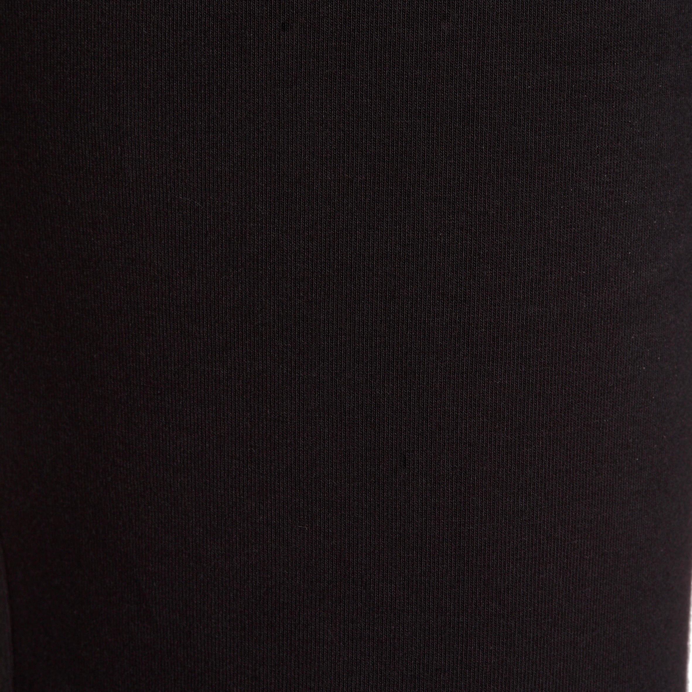 Pantalon 500 régulier Gym et Pilates femme noir FORME+