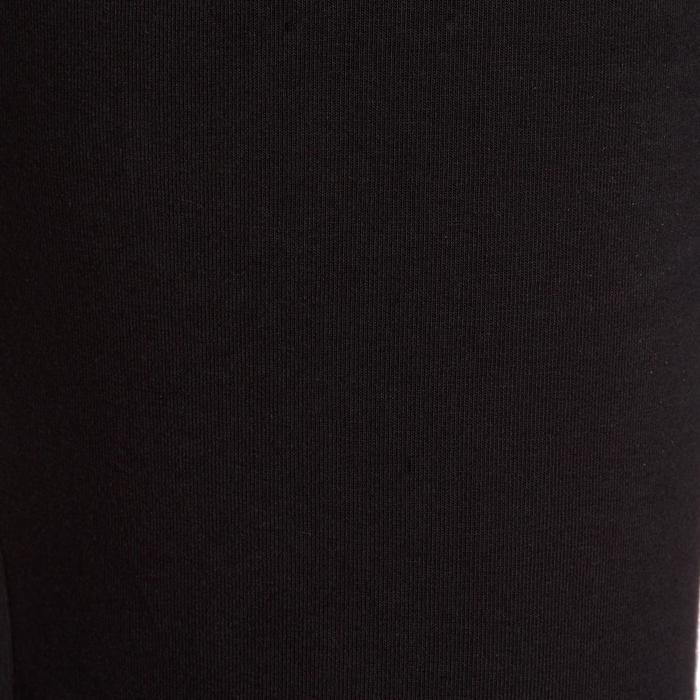 Damesbroek 100 voor gym en stretching regular fit zwart