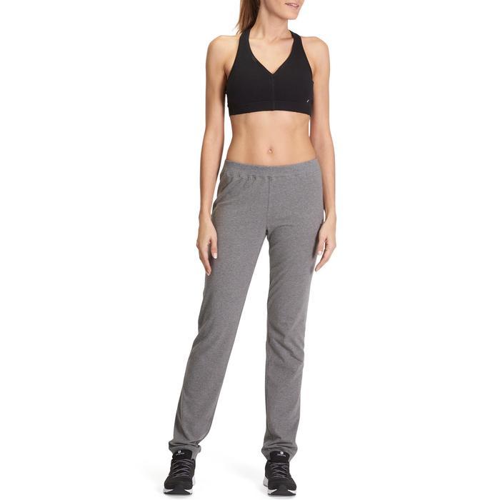 Pantalon 100 regular Gym Stretching femme - 880390