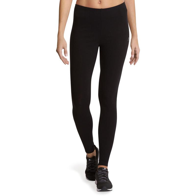 Calzas 100 slim gimnasia y pilates mujer negras Salto