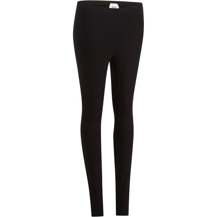 Dameslegging Salto 100 voor gym en stretching slim fit zwart