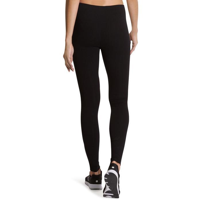 Mallas Leggings Deportivos Gimnasia Pilates Domyos Salto 100 Mujer Negro