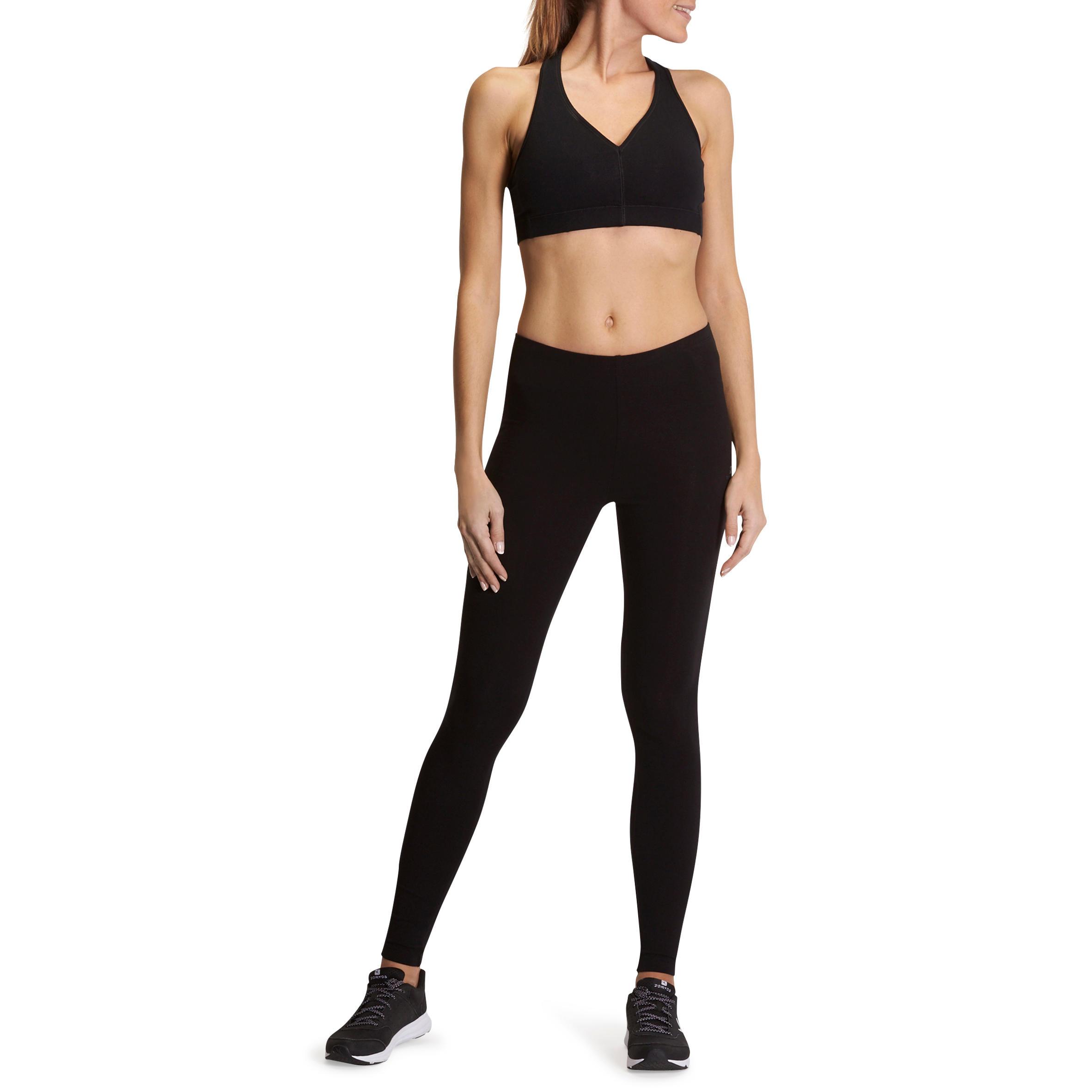 de2b88b0a Leggings FIT+ SALTO fitness mujer negro - Decathlon