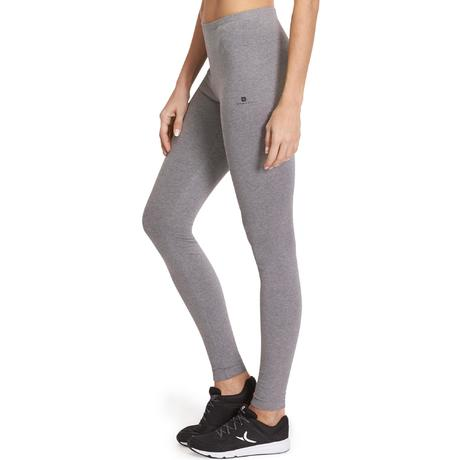 leggings donna salto grigio scuro domyos by decathlon. Black Bedroom Furniture Sets. Home Design Ideas