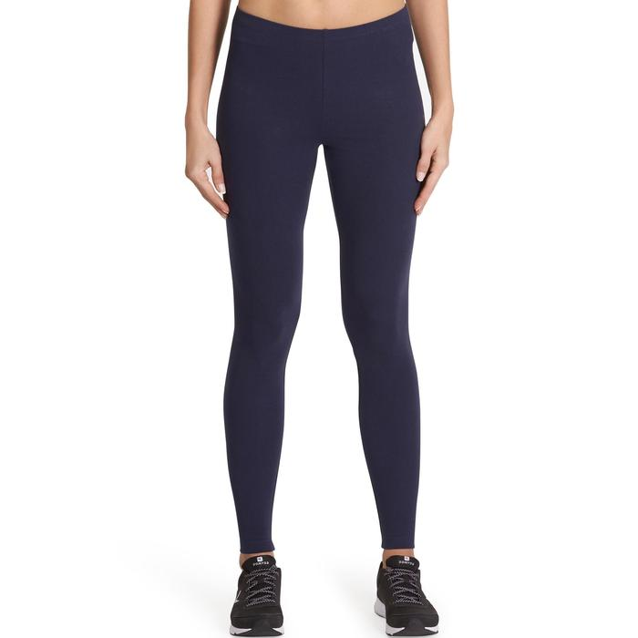 Leggings Salto 100 Slim Gym Stretching Damen marineblau