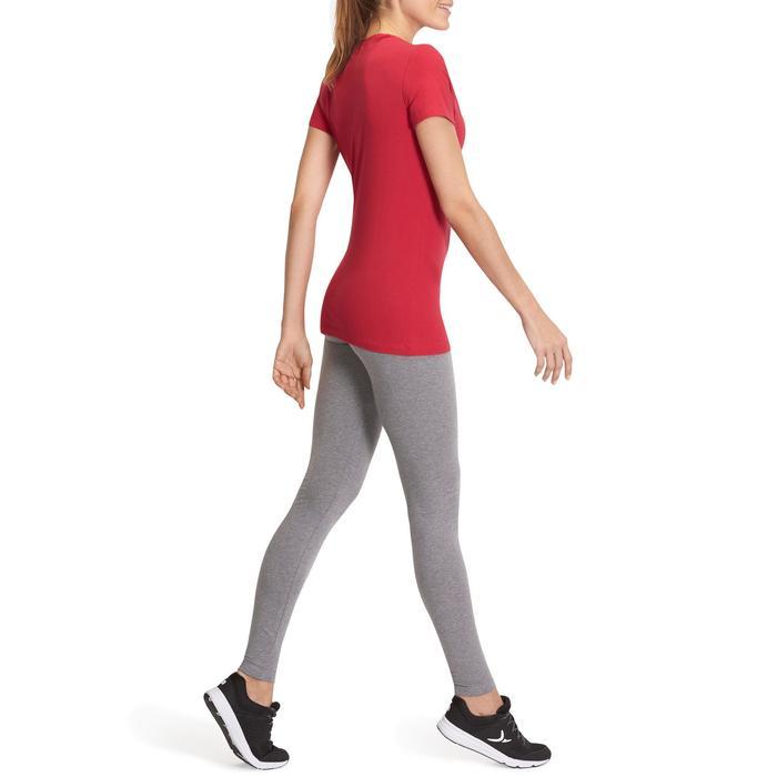 Leggings de gimnasia y pilates para mujer gris jaspeado SALTO