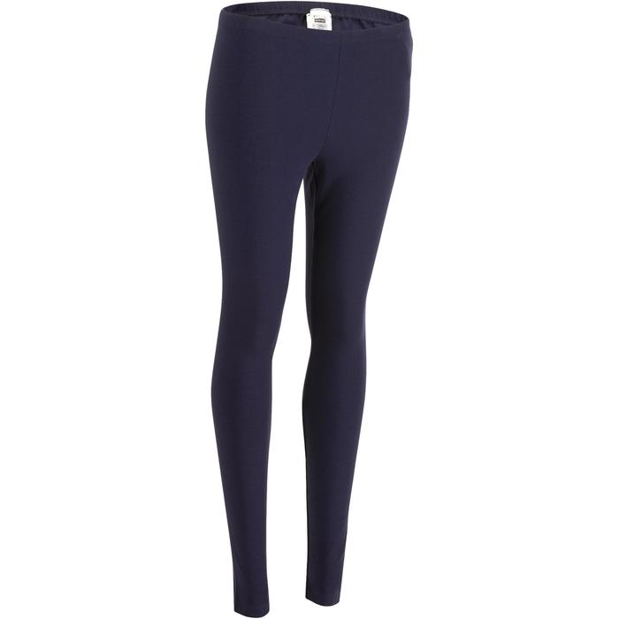 Dameslegging Salto 100 voor gym en stretching slim fit marineblauw