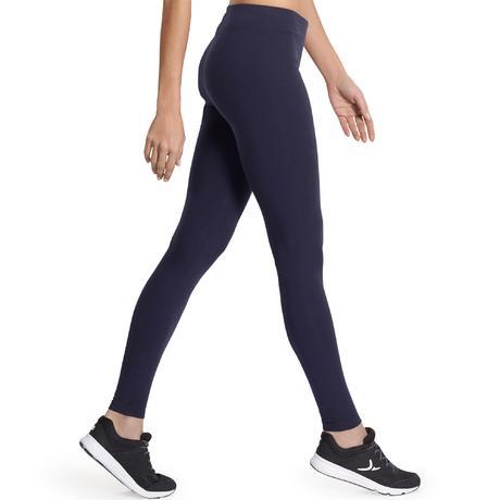 Salto Women's Gym and Pilates Leggings - Navy Blue | Domyos by ...