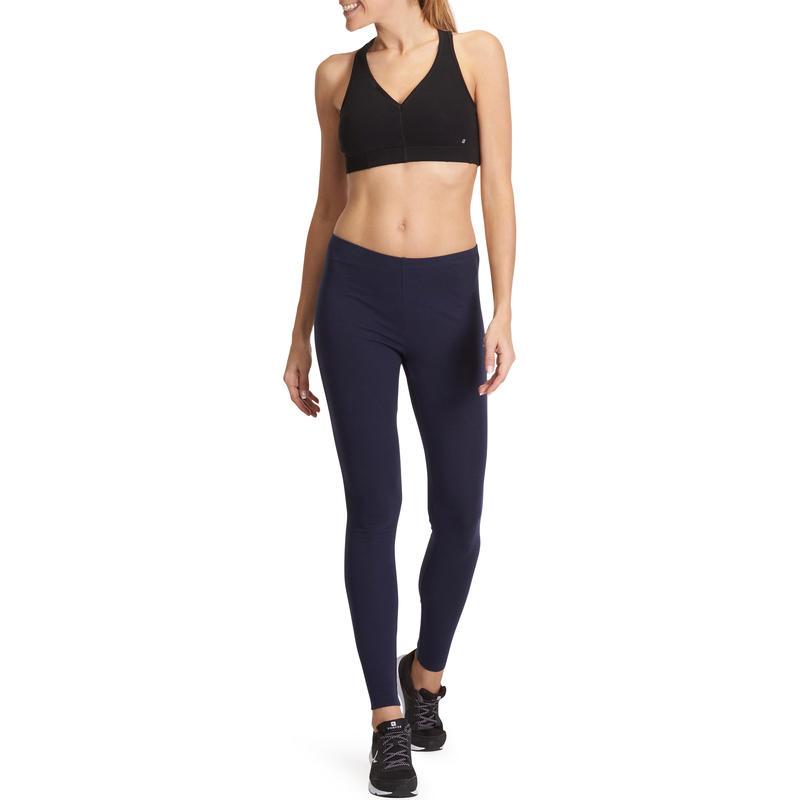 Calzas 100 slim gimnasia y pilates mujer azul marino Salto