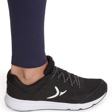 Leggings Deportivos Gimnasia Pilates Domyos Salto 100 Mujer Azul Oscuro