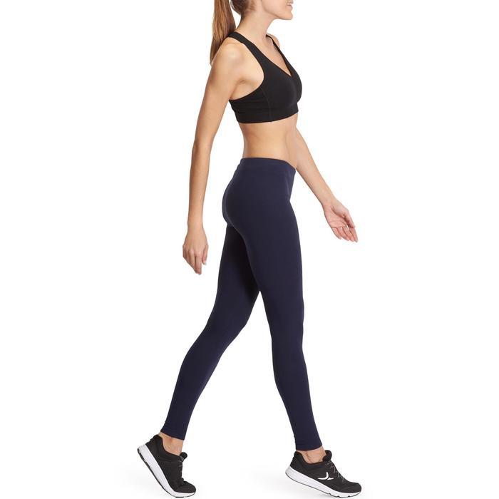 Leggings Salto 100 Slim Gym Stretching Damen marineblau