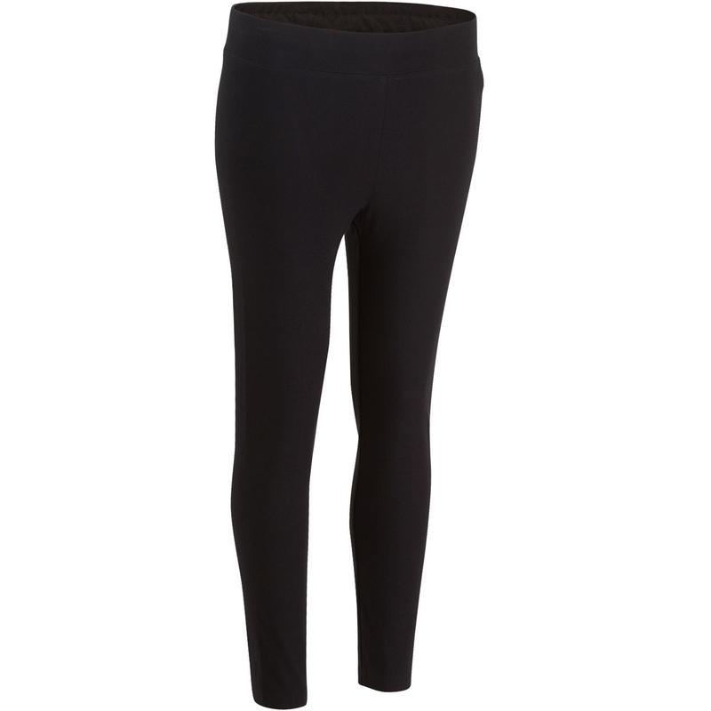 cdab46eff1d8 Női legging kímélő tornához, pilateshez Fit+ 500-as, szűkített szárú,  fekete | Domyos by Decathlon