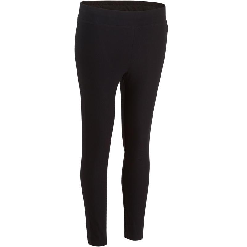 500 Fit+ Women's Slim-Fit Gym & Pilates 7/8 Leggings - Black