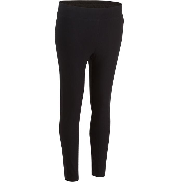 Legging 7/8 FIT+ 500 slim Gym Stretching femme noir