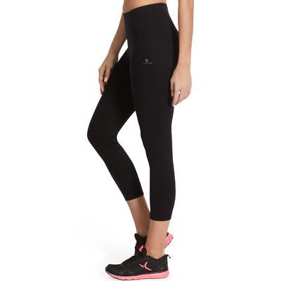 Leggings 7/8 fitness mujer FIT+ slim negro